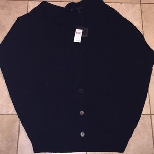 BCBGmaxazria Black cable oversized sweater xs new